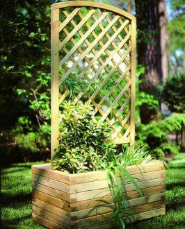 Donica ogrodowa z kratką do pnącz