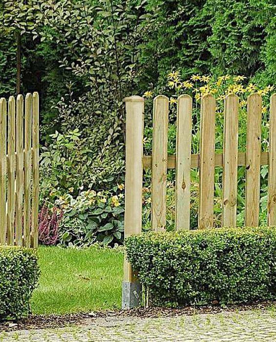 Drewniane ogrodzenie sztachetowe