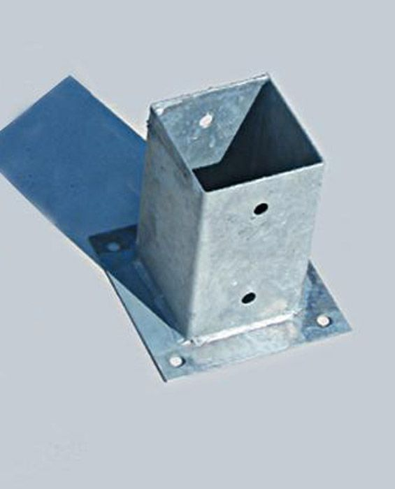 Metal Post Holder for Concrete