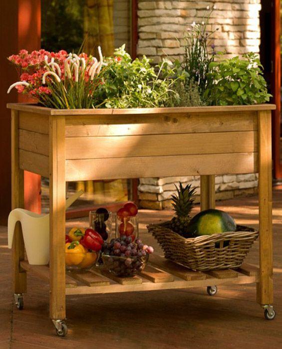 Planter do ziół na kółkach