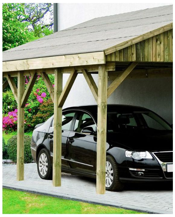 BONN  traditional lean-to single carport