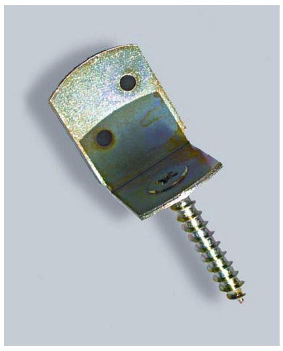 Metalowy łącznik z wkrętem do montażu ogrodzeń