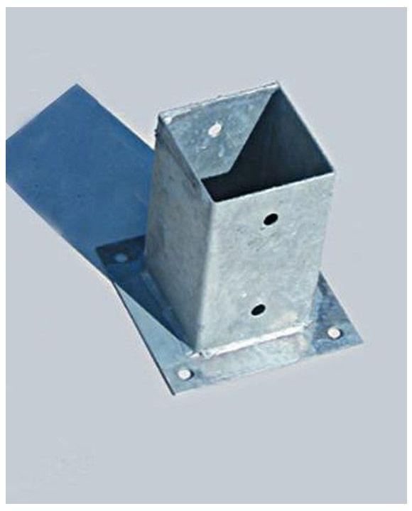 Metal Post Holder for Concrete