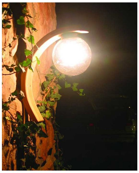 Arched wall lamp